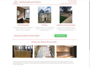 McDonald and Sons Builders, Swanage, Dorset