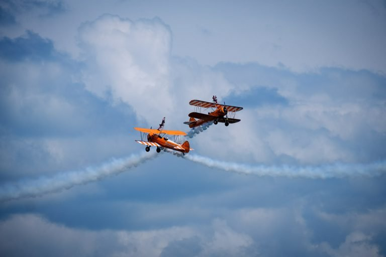 Wing Walkers above Swanage Bay